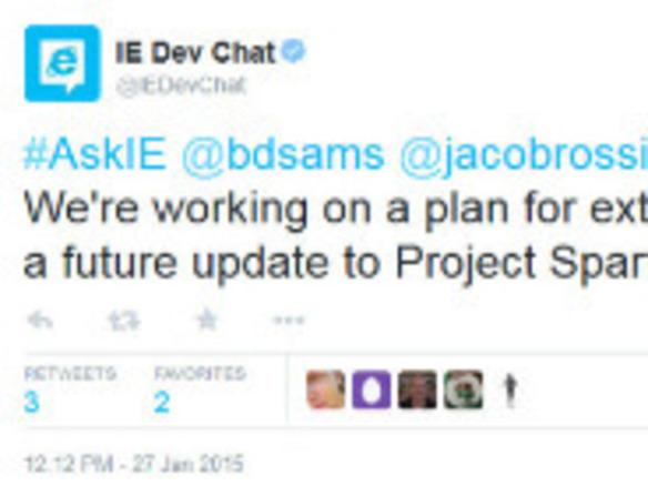 新ブラウザ「Spartan」に拡張機能--マイクロソフトが明言 - ZDNet Japan