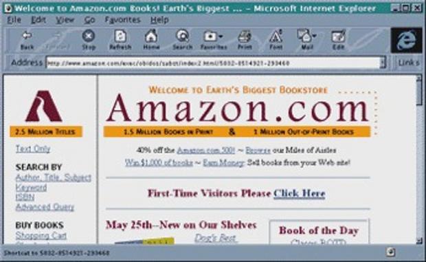Amazon創業時のサイト画像