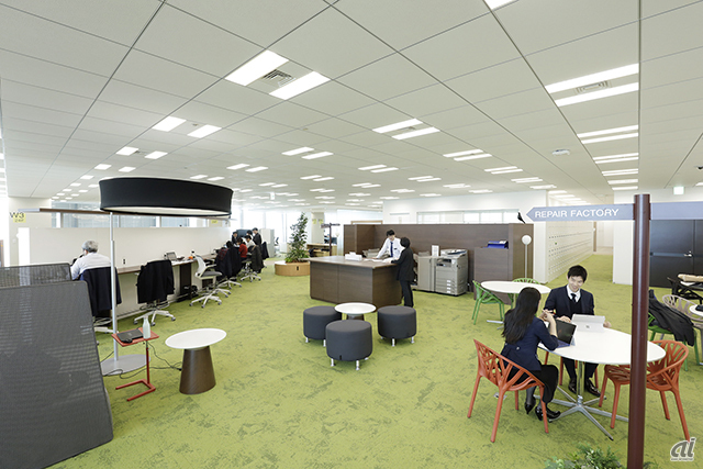Innovative Officeの見学エリア