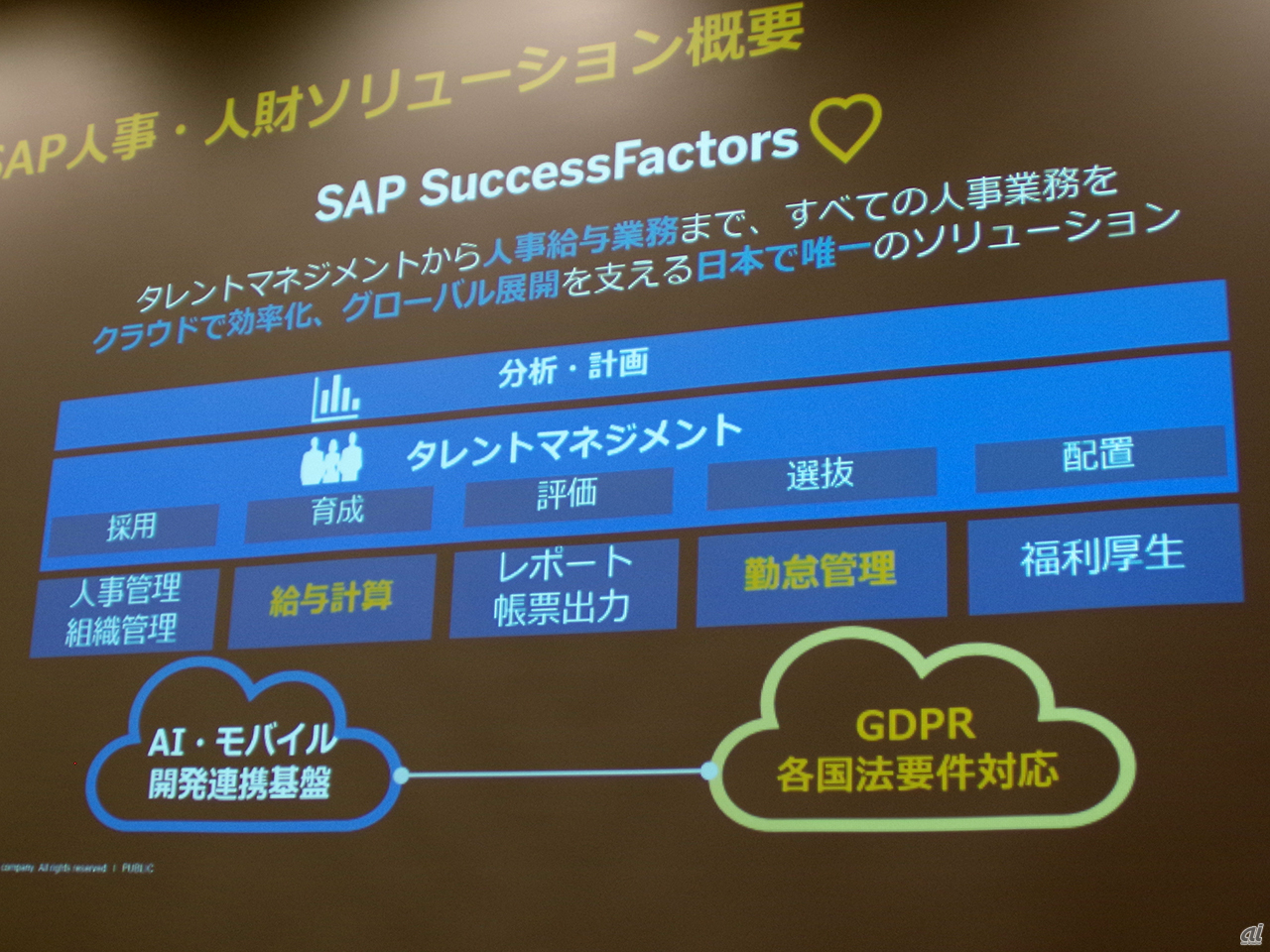 SAP SuccessFactors HCM Suiteの構成要素