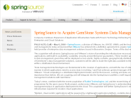 Springsource to Acquire Gemstone Systems Data Management Technology | SpringSource
