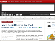 Marc Benioff Loves the IPad - PCWorld Business Center