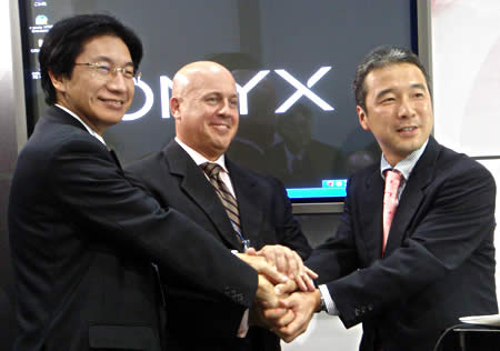 オニックス、イーシステム提携発表画像