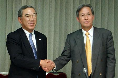 日本SGI、サン、提携会見画像