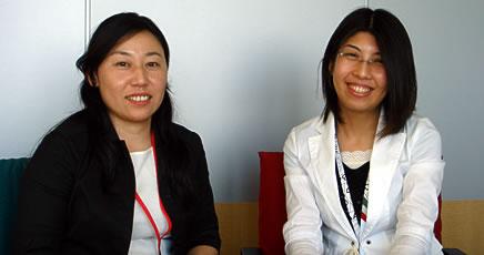 ジャストシステム、システム営業推進グループ商品企画・推進の三谷安世氏(左)と、同販売推進の石田かほり氏
