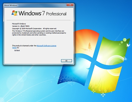 Windows 7 RTM (Build 7600)