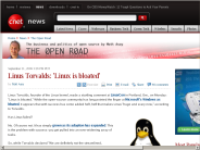 Linus Torvalds: 'Linux is bloated' | The Open Road - CNET News