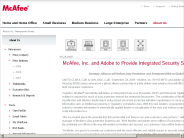 McAfee Newsroom: McAfee, Inc. and Adobe to Provide Integrated Security Solutions