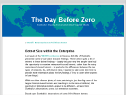 Botnet Size within the Enterprise ? The Day Before Zero
