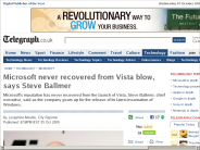 Microsoft never recovered from Vista blow, says Steve Ballmer - Telegraph