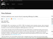 Dell - Dell and salesforce.com Launch Cloud Computing Offerings for SMBs