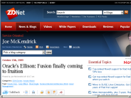 Oracle's Ellison: Fusion finally coming to fruition | Service-Oriented Architecture | ZDNet.com