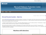 Microsoft Malware Protection Center : Microsoft Security Essentials ? Week One