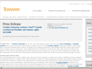 Teradata Enterprise Analytics Cloud? Extends Architectural Flexibility and Business Agility