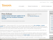 Teradata Extreme Performance Appliance for the Ultimate Active Data Warehouse Performance