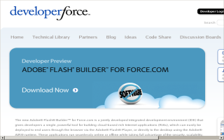 Adobe Flash Builder for Force.com | Developer Force
