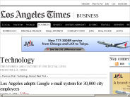 Los Angeles adopts Google e-mail system for 30,000 city employees | Technology | Los Angeles Times