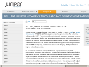 Dell and Juniper Networks to Collaborate on Next-Generation Networking - Juniper Networks