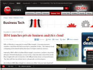 IBM launches private business analytics cloud | Business Tech - CNET News