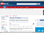 EU ministers agree e-government aims - ZDNet.co.uk