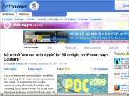 Microsoft 'worked with Apple' for Silverlight on iPhone, says Goldfarb | Web Apps News - Betanews