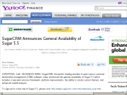 SugarCRM Announces General Availability of Sugar 5.5 - Yahoo! Finance