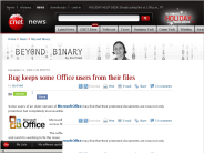 Bug keeps some Office users from their files | Beyond Binary - CNET News
