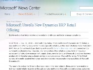 Microsoft Unveils New Dynamics ERP Retail Offering