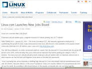 Linux.com Launches New Jobs Board | The Linux Foundation