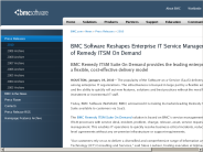 BMC Software Reshapes Enterprise IT Service Management with Launch of Remedy ITSM On Demand - BMC Software