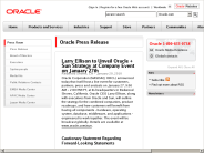 Larry Ellison to Unveil Oracle + Sun Strategy at Company Event on January 27th