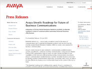 Avaya Unveils Roadmap for Future of Business Communications