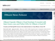 VMware Expands VMware vCloud Developer Ecosystem with Open-Source Java and Python SDKs for VMware vCloud API
