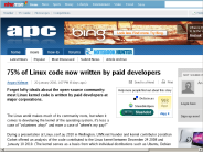 75% of Linux code now written by paid developers