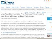 Linux Foundation Launches Free Training Webinar Series to Meet Growing Demand for Linux Professionals | The Linux Foundation