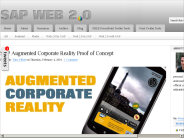 SAP Augmented Corporate Reality Proof of Concept | SAP Web 2.0